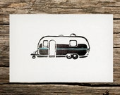 Land Yacht Airstream Letterpress Art Print