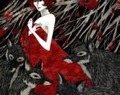 Wolf Woman - 11x14 print