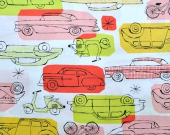 Sale, Monaluna, Organic Cotton Fabric, On the Go, Red by the yard