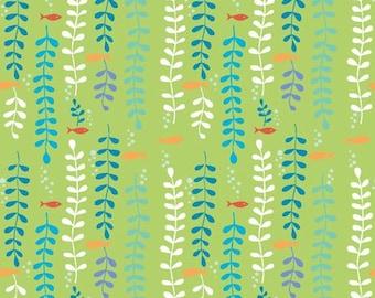 Sale, Monaluna, Organic Cotton Fabric, Kelp Forest, Under the Sea, by the half-yard