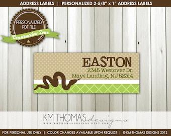 CREEPY CRAWLY...Custom Address Label or Sticker...Printable Design...by KM Thomas Designs Item 158