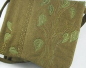 Mossy green tree small silk purse