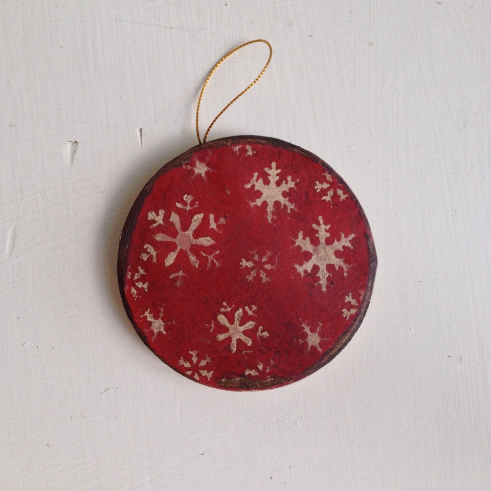 Paper Mache Vintage Christmas Ornament By Hanwaymillhouse