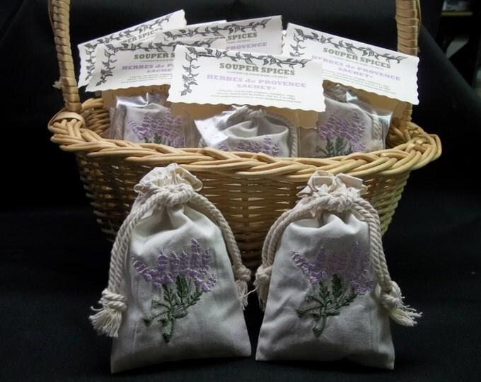 Lavender Sachets, Sachet, Bridal Sachet, Wedding Sachets, Herbes de Provence Sachet,  Memento Sachet, Sachet Gift, Party Sachets