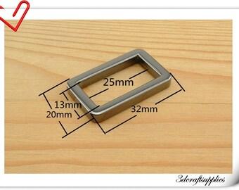 1 inch (inner diameter) Gunmetal rectangle alloy buckles 10pcs 3mm thickness U10
