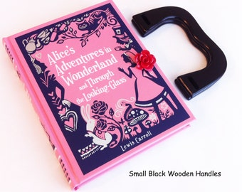 Alice In Wonderland Book Purse - Through the Looking Glass Book Clutch - MadHatter Tea Party Book Purse - Alice Book Clutch - Girl Purse