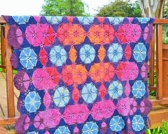Supernova Crochet Blanket - PDF CROCHET PATTERN