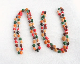 Dyed Seed Necklaces Lot of 2 Colorful Vintage Seed Beaded Bead Necklace
