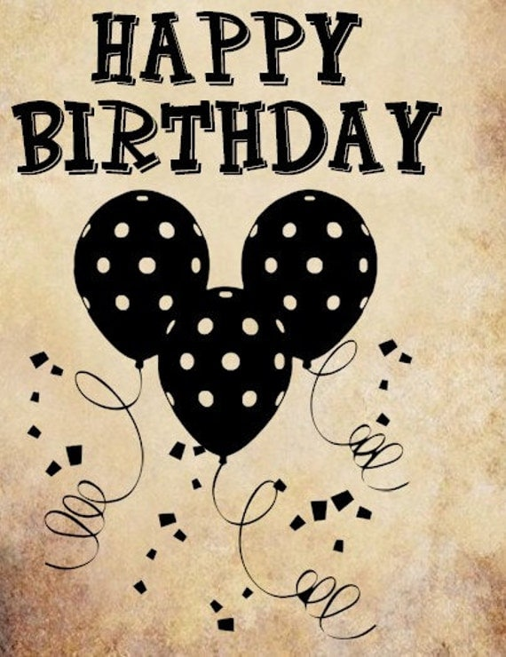 Happy Birthday Words Png Clip Art Party By Digitalgraphicsshop