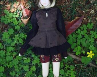 jiajiadoll- coffee and black mesh shirts dress fit momoko or misaki or blythe