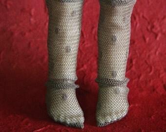 jiajiadoll brown lace dots stocking leg warmers fit YOSD 1/6 BJD littlefee imda