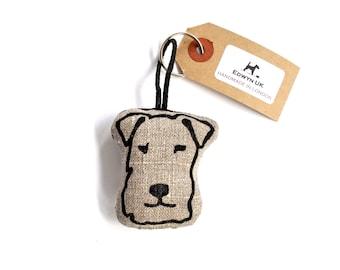Terrier Head Keyring - Stone