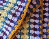 Wool Scarf Granny Stripe, multi color