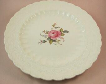 Vintage Spode Billingsley Rose Round Platter Chop Plate Rose Design Spode's Jewel Large Servng Tray Pink Rose Made in England
