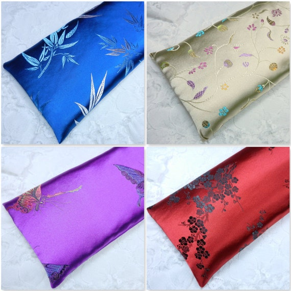 Extra Large Satin Flax Seed Eye Pillow Or Heating Pad By