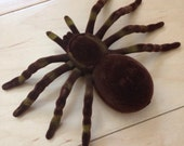 Handmade 6'x4' brown spider hair clip ooak diy halloween
