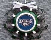 Philadelphia Eagles Recycled Aluminum Can Ornament