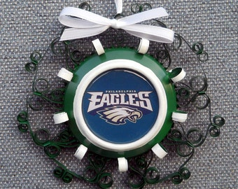 Philadelphia Eagles Recycled Aluminum Can Ornament