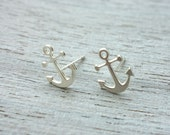 Sale 20% OFF Anchor Post Earrings, nautical minimalist studs,