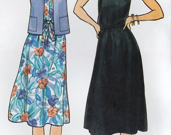 Vintage Sewing Pattern McCalls 6521 Misses' Jacket, Dress and Belt Bust 34, Size 12, Fast & Easy, Time Saving Shortcuts