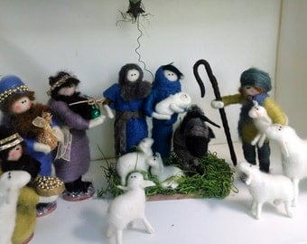 Nativity 15 Piece Felted Wool