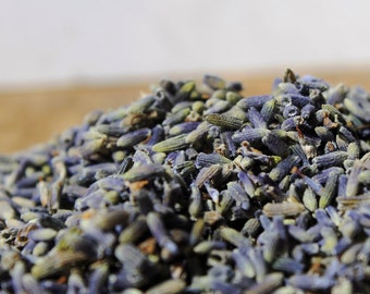 1 oz. (1 cup) Ultra Blue Organic French Lavender Buds. Blue Lavender Buds, Dried Lavender Herb. Culinary Quality