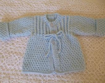 Baby Boy Sweater, Warm Boy Sweater, Take Home Sweater, Coming Home Sweater, Baby Shower Gift, Knitted Boy Sweater, Newborn Sweater.