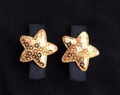 Star Bright- Gold Sequined Star Baby/Girls Hair Clip