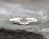 Antique Style Wedding Band - Filigree Design Band - Sterling Silver - Matching Band - Made to Order