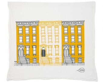 Brownstones in Yellow Tea Towel
