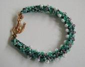 Ocean Colors Spiral Rope Beadwoven Mermaid Bracelet     ~MermaidBracelet~SpiralRope Bracelet~BeadwovenBracelet~Summer Bracelet~BeachBracelet