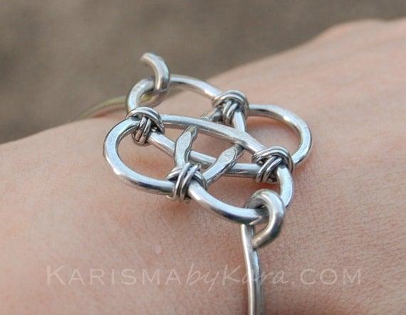 celtic knot bracelet aluminum silver wire by. Black Bedroom Furniture Sets. Home Design Ideas