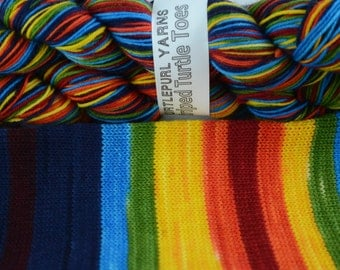 Om - Hand-dyed Self-striping sock yarn