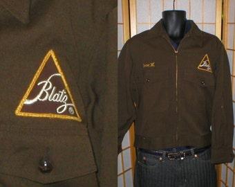 40s / 50s wool gabardine Blatz Beer jacket mens size xlarge / 45