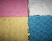 Vintage Chenille Bundle,Pastels,Shabby and So Very Sweet