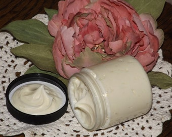 9.5 oz. Rose Geranium rich GOAT'S MILK Cream w/ Hemp, Mango Butter ~ Organically Preserved!