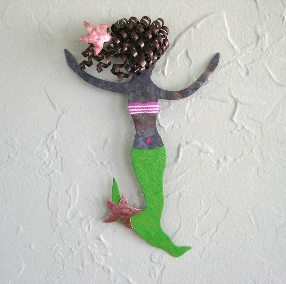 Mermaid Metal Wall Art Pearl Metal By Frivoloustendencies