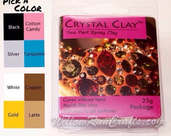 Crystal Clay 25g Package Select From 10 different colors(01-17-100), Epoxy Clay, Jewelry Clay, Chaton Clay