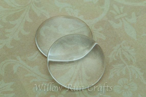 30 Pack 12mm Glass Circle Cabochon, Domed Glass Circles (09-11-670)