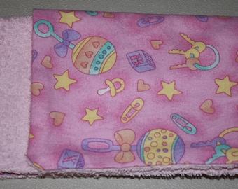 3 Baby Burp Cloth  Size 10 X 14