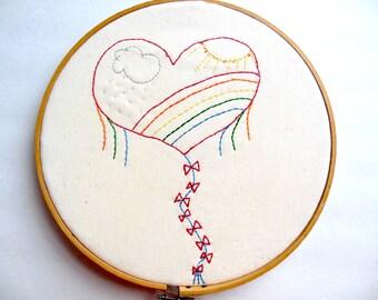 Heartflight PDF Stitchery Pattern