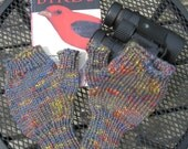 Gray and Multicolored Half-Mitts - Size Average to Large