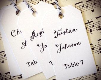 Wedding Escort Cards Tags, Escort Tags, Set of 25