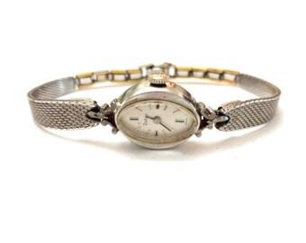 Vintage Zodiac Watch, Gold Filled Watch, Swiss Made, RGP Rolled Gold Watch, Kreisler Watch Band, Silver Metal Watch, 1970s Designer Watch