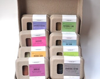 Set of 8 Soaps. Small batch. 100% Natural. Cold Process. Soap Gift Set. Father's Day Gift Set. Hostess Gift.