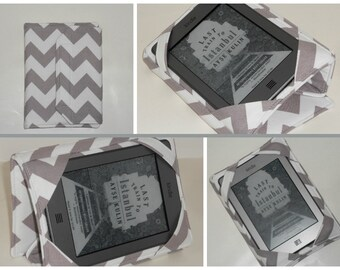 Kindle Hardcover Case Standable Nexus 7 Cover Nook Hardcover Grey Chevron eReader Cover