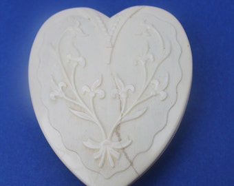 Vintage Broken Heart Box Vintage Celluloid CORO Satin Lined Jewelry Box
