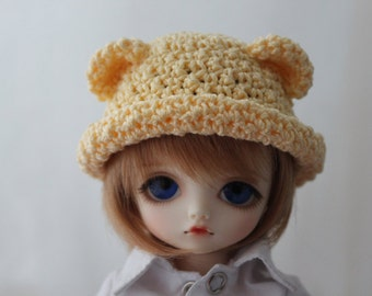 Bear Ear Bowler Hat for Yo SD, Littlefee BJD, Made to Order