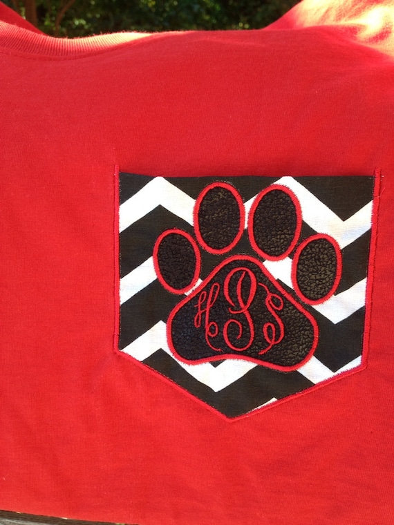 items similar to ga georgia bulldogs dawgs support your school team spirit embroidered paw print