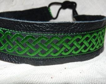 Celtic Knot Leather Headband